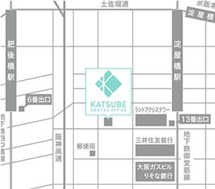 大阪市内ビジネス街からすぐ。当院までの道のり。